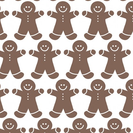 Gingerbread Men Pattern Gift Wrap