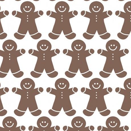 Gingerbread Men Pattern Gift Wrap