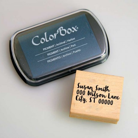 Custom Maple Block Address Stamp and ColorBox® Archival/Acid Free Ink Pad