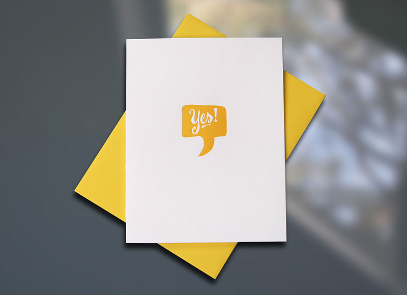 Yes! — Voice Bubble Congratulations Card