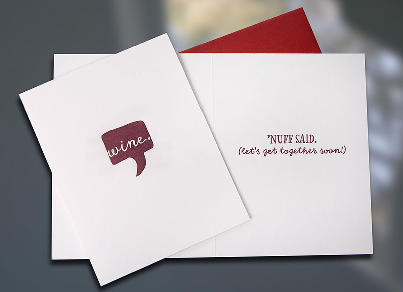 Wine — Voice Bubble Friendship Card