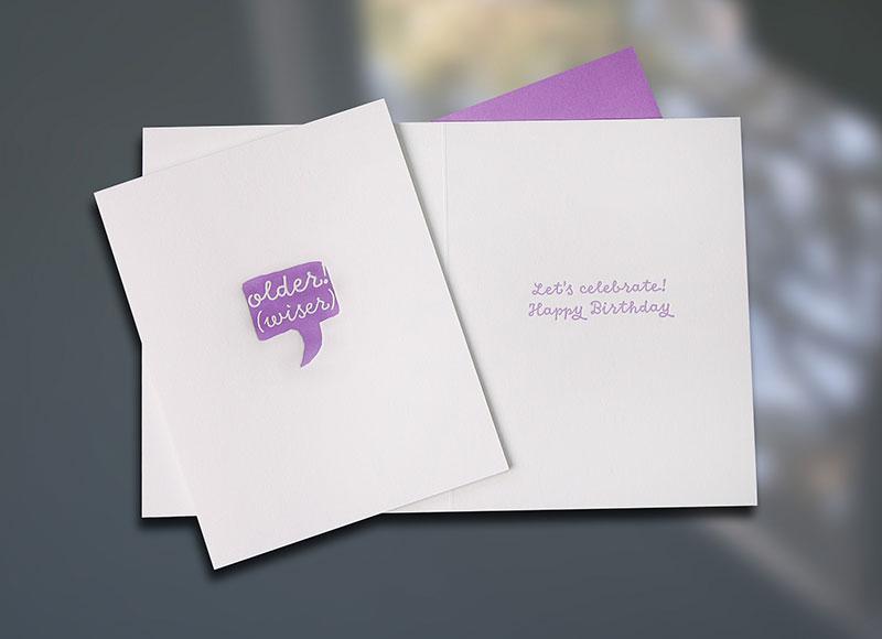 Older Wiser — Voice Bubble Birthday Card