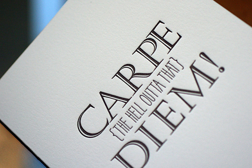 Carpe Diem Spring LetterBox