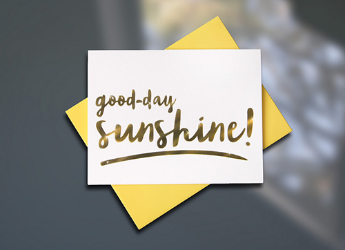 Good Day Sunshine Spring LetterBox