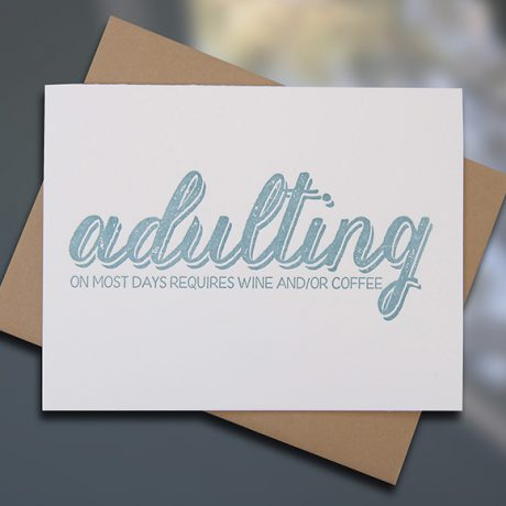 Adulting — Note Card