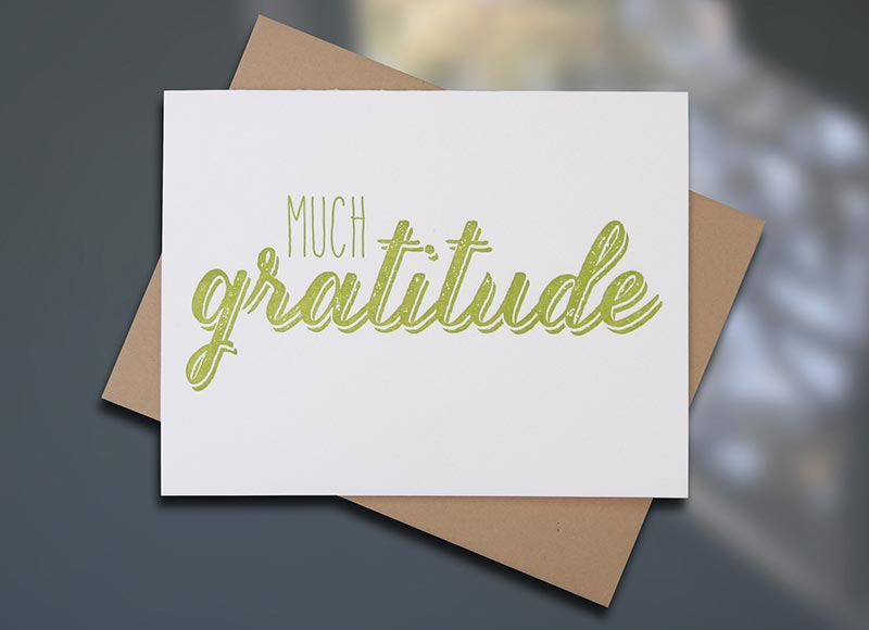Gratitude — Thank You Card