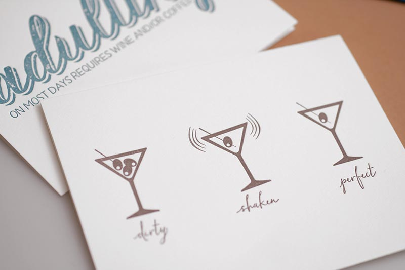 Martinis — Birthday Card