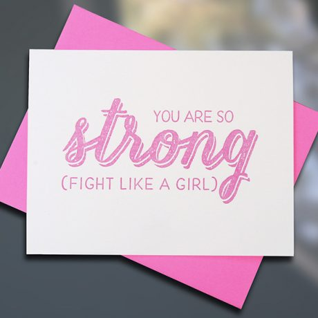 Strong — Breast Cancer Awareness Note Card