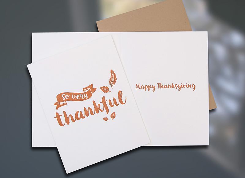 Thankful — Thanksgiving Card