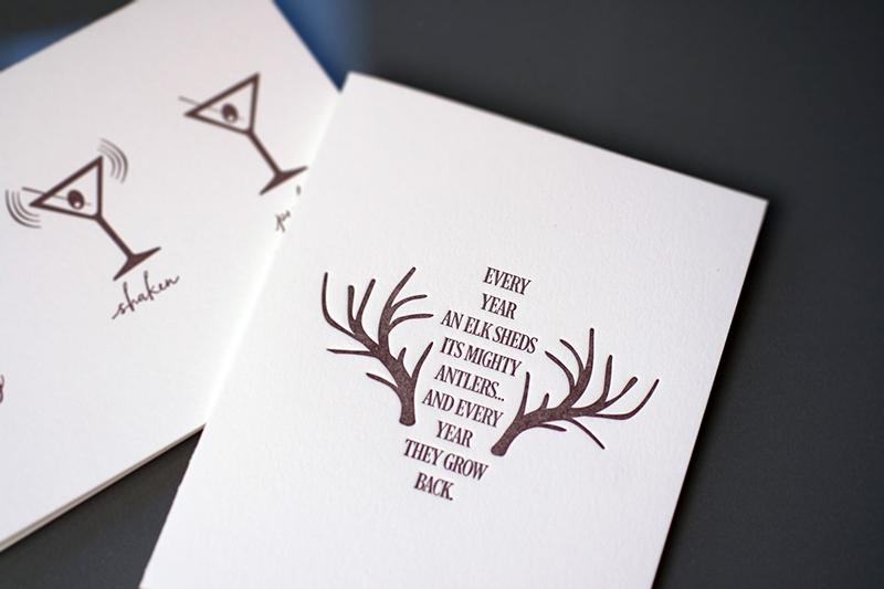 Elk Antlers — Encouragement Card