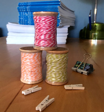 20 yards of Bakers Twine by InTheClear, available at Sky of Blue Cards for $4/ea. www.skyofbluecards.com