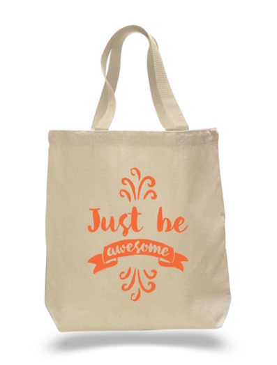 Just Be Awesome Tote Bag by Sky of Blue Cards – $20 www.skyofbluecards.com