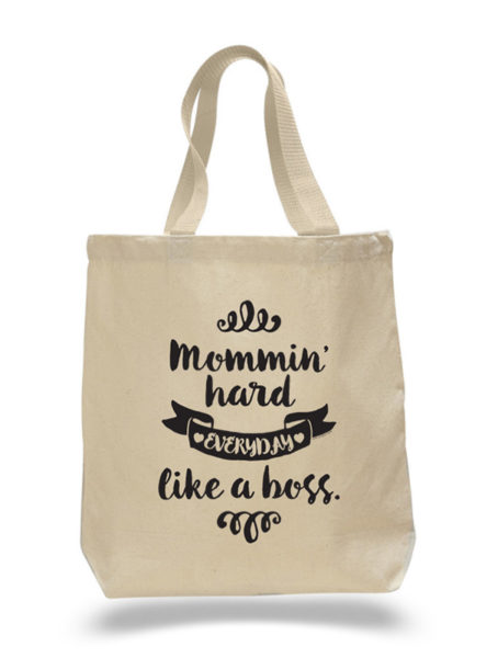 Mommin' Hard Tote Bag