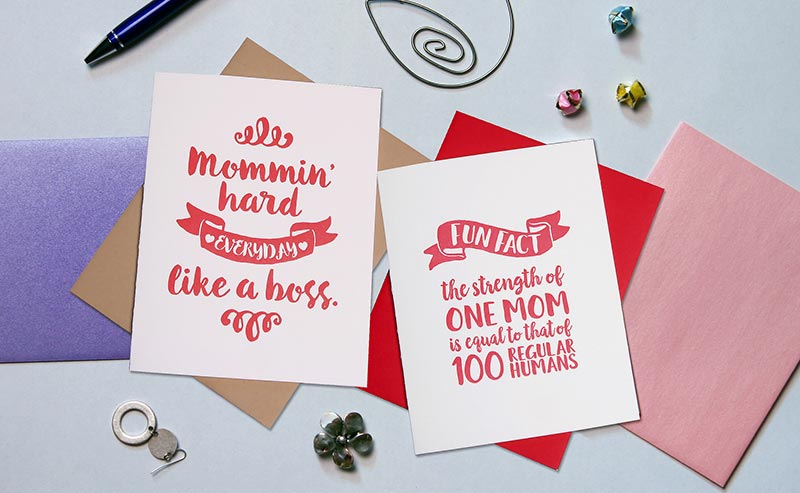 Mommin' Hard — Mother's Day Card