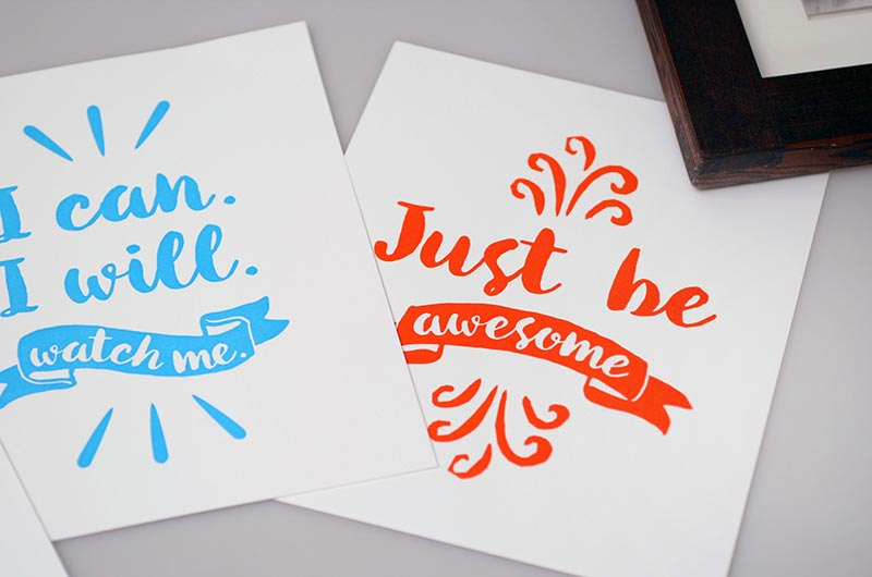 Just Be Awesome — 8×10 Art Print