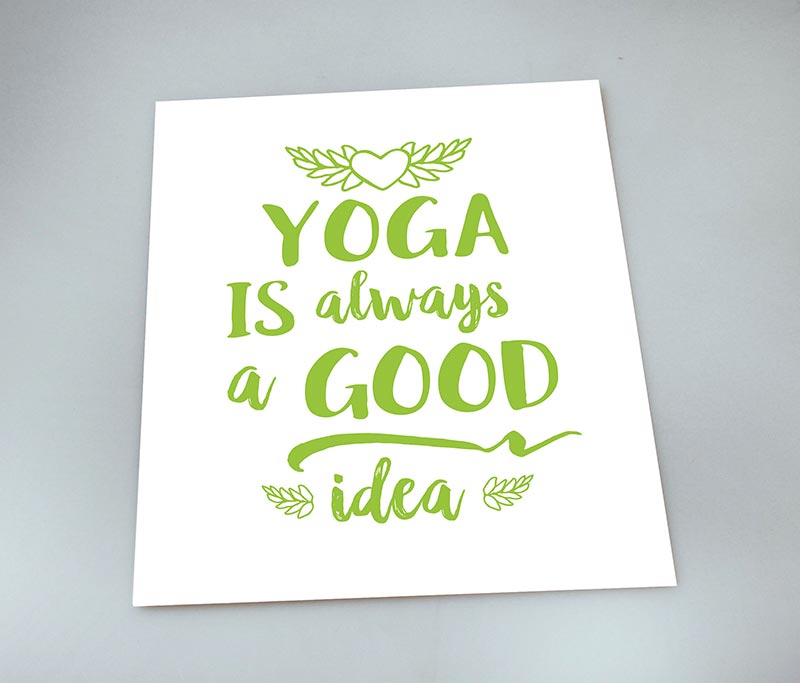 Yoga Good Idea — 8×10 Art Print