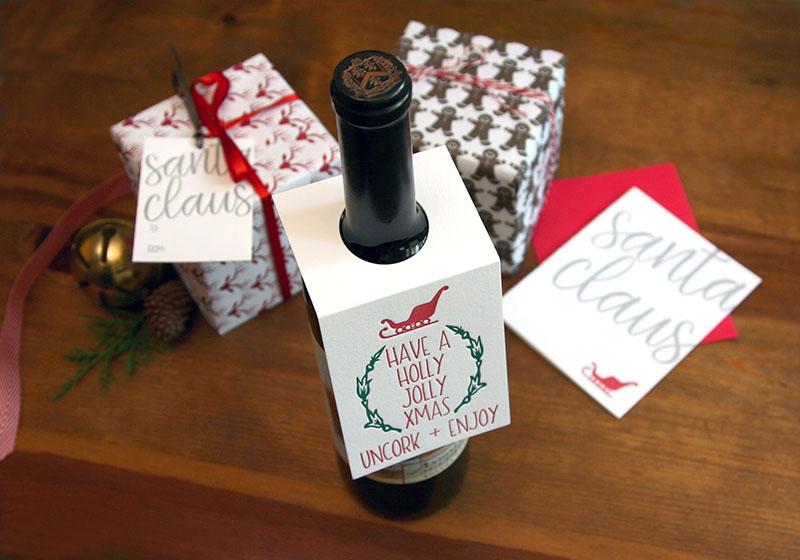 Holly Jolly Wine Tags