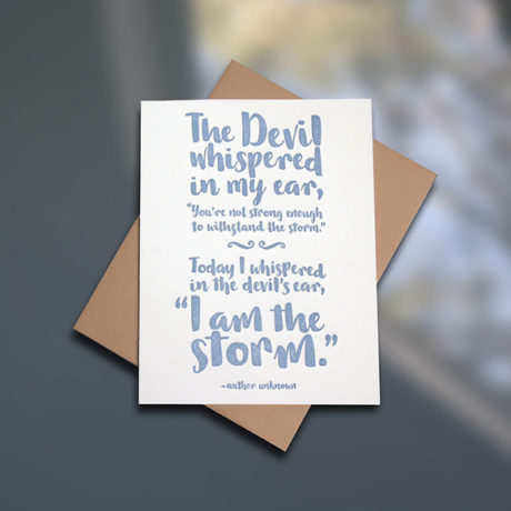 I am the Storm — Note Card