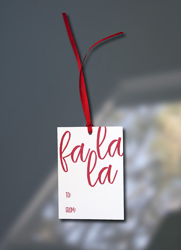 Fa La La Gift Tag