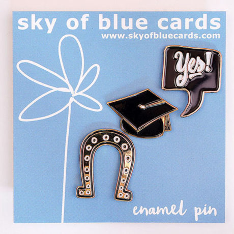 Graduation Theme Enamel Pin Trio