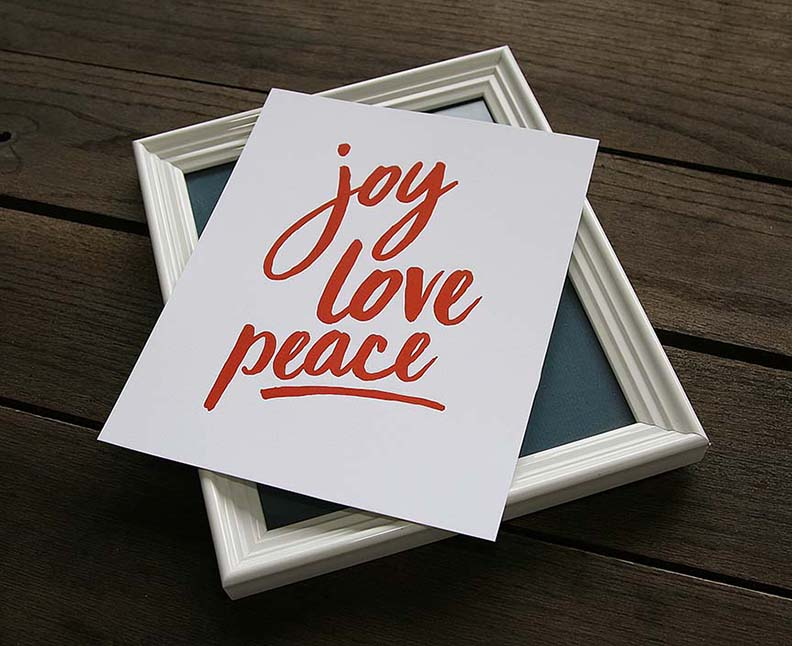 Joy Love Peace – 8×10 Art Print