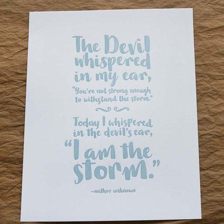 I am the Storm – 8×10 Art Print