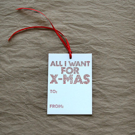All I Want Gift Tags
