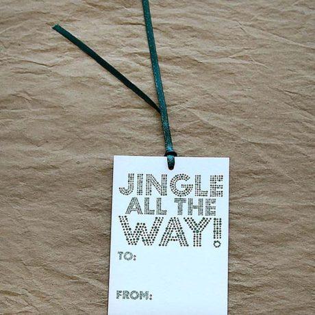 Jingle All the Way Gift Tags
