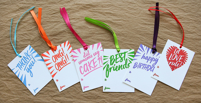 BOOM! Gift Tags