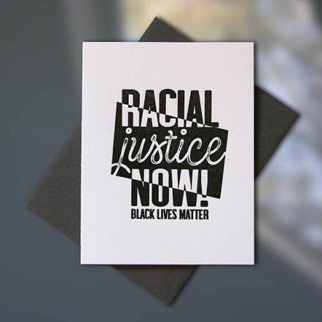 Racial Justice Now Note Card