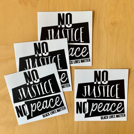 No Justice, No Peace Sticker